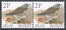 Année 1998 - COB 2792  - Oiseaux - En Paire Horizontale  -  Cote  2,20€ - Belgique