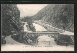 CPA Dingy-St-Clair, Défilé De Dingy, Pont St-Clair - Dingy-Saint-Clair