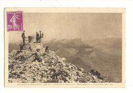 Cp, 38, Le Sommet Du Moucherotte, Le Massif De Chartreuse, Grenoble Et Le Mont-Blanc, Voyagée 1934 - Chartreuse