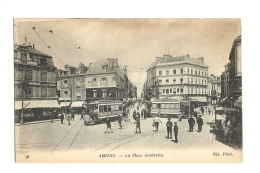 Cp, 80, Amiens, La Place Gambetta - Amiens