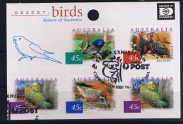 Australia 2001 Desert Birds Overprint Hafna Used    928A - 2000-09 Elizabeth II