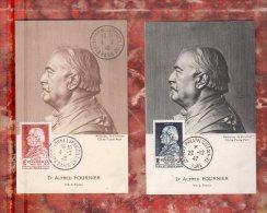 1946 1947 Dr ALFRED FOURNIER Sur 2 Cartes Maximum N° YT 748 + 789. Tamponnées M.F.Parfait état (voir Les Scans R/V). CM - Cartes-Maximum