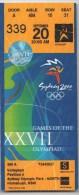 Jeux Olympiques Sydney 2000 - Billet Officiel D'admission Aux épreuves De Volleyball - Non Classés