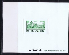 1953  Poste Centrale Saarbruck 12 Fr  Yv 312 Epreuve De Luxe Minr 326 Ministerblock - Neufs