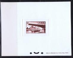 1955  Pont De Gersweiler  18 Fr  Yv 338   Epreuve De Luxe Minr 330 Ministerblock - Neufs