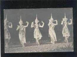 Carte Photo Cambodge Danseuses Cambodgiennes Danse - Cambodia