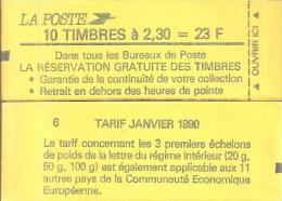 """CARNET 2614-C 1 Marianne De Briat """"LA RESERVATION GRATUITE DES TIMBRES""""  Fermé. Parfait état Bas Prix à Saisir. - Carnets"""