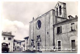 Anni '50, Sant'Eusanio Forconese (L'Aquila), Chiesa Parrocchiale Monumentale XII Secolo - FG - Italie
