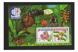 Singapore 1995  Sg Ms 797 Orchids Sheet MNH Cv £10 In Sg 2010 - Singapore (1959-...)