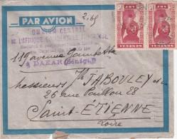 1939 , LETTRE SENEGAL,  DAKAR Pour FRANCE, 3 TIMBRES /5160 - Storia Postale