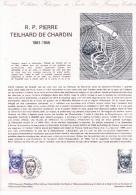 Lot De 3 Documents Philatéliques Premier Jour, R. P. Pierre Teilhard De Chardin (1881-1955), 1981 - Theologians