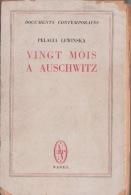 Vingt Mois à Auschwitz Pelagia Lewinska RARE Déportée Déportation Holocauste Shoah Camp Concentration - Books, Magazines, Comics