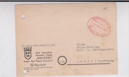 EMPIRE - 1945 - CARTE POSTALE De BAYREUTH Avec GEBÜHR BEZAHLT (TAXE PAYEE) - Zona AAS
