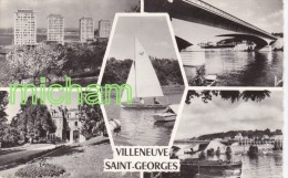 CPSM  94  VILLENEUVE  ST GEORGES  MULTIVUES - Villeneuve Saint Georges