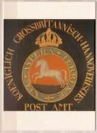 Posthausschild Hannover , Um 1825 , Bundespostmuseum Frankfurt Am Main - Post & Briefboten