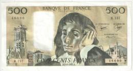 500 F Pascal - 5-8-1982 R 157 - 1962-1997 ''Francs''