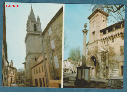 2 SCANS - 13 - PELISSANNE  - Non écrite - Multivues L´Église Saint-Maurice L´Horloge Et Le Beffroi - 10.5x15 - H.MOIROUD - Pelissanne