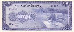 CAMBODGE   100 Riels  Emission De 1972    Pick 13 B    ***** BILLET  NEUF ***** - Cambodia