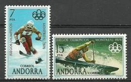 ANDORRA-  CORREO ESPAÑOL  C.M.ABAD Nº 96/97 ** SIN FIJASELLOS. - Nuevos