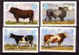 ZAMBIA 1987 FAUNA Animals MNH Set #1132 - Zambia (1965-...)