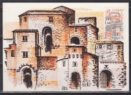 = Carte Postale Cordes-sur-ciel 1er Jour 81 Cordes 05 04 1980 N°2081 Cité Médiévale étape Du Pèlerinage De Saint-Jacques - Monuments