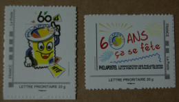 P2-Q4: Philapostel : 60 Ans ça Se Fête  (autocollants/autoadhésifs) - France