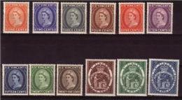 St VINCENT 1955 QEII Complete Set Mint Very Light Hinged Mi 168-179 #2337 - St.Vincent (...-1979)