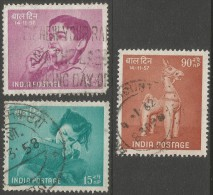 India. 1957 Children's Day. Used Complete Set - 1950-59 Republic