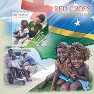 slm13513b Solomon Is. 2013 Red Cross s/s Flag