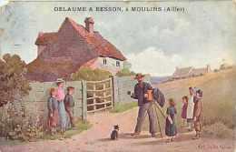 Depts Div- Allier -ref L680- Moulins -publicité Commerce Magasin Delaume Et Besson -toiles-trousseaux -lingerie - - Negozi