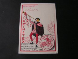 == Monaco Karte 1952  Exhbition Phila Intern.  Exposition Philatelique SST - Monaco