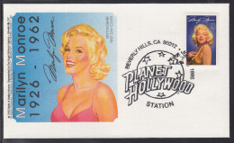 A-01) Free Shipping To // Beautiful Cover Illustration With Marilyn Monroe 1926 - 1962 / Beautiful Document - Famous Ladies