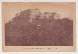 ITALIE  ITALIA    ABBAZIA DI  MONTECASSINO  15  FEBBRAIO  1944 - Unclassified
