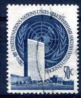 Nations Unies                           10  Oblitéré - New-York - Siège De L'ONU
