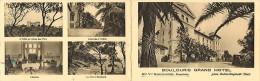 Var -ref : A506 - Boulouris - Le Grand Hôtel - Carte Publicitaire Double Volet -  Carte Bon état - - Boulouris