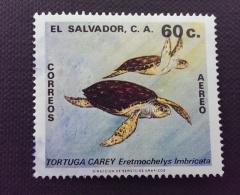 El Salvador / 1981 / Mi 1343 / Used  / Turtle, Animal - El Salvador