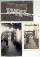 MOLEMBAIS-SAINT-PIERRE-PRESBYTERE-2 CARTES-PHOTO+1 PHOTO-VENANT DE L´ARCHIVE DU PRETRE-JEAN VREVEN-VOYEZ L´EXPLICATION! - Ramillies