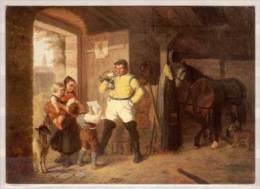 Postillion , Sachsen , 1860 , Postmuseumskarte Nr. 083-02 , Ölgemälde Von Wilhelm Hahn - Post & Briefboten