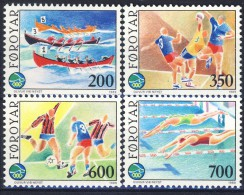 #Faroe Islands 1989. Sport. Michel 186-89. MNH(**). - Islas Faeroes