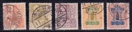 Japon 1929 N°Y.T. :   202 à 206  Obl. - Used Stamps
