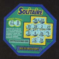 FRANCAISE DES JEUX - SOLITAIRE 29775 - Trait Continu - Billets De Loterie