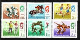 HUNGARY 1969 Various Sports MNH Complete Set Michel: 2537-2542 #2438 - Hongrie