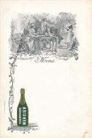 Menu  Publicitaire - Champagne Mercier, Epernay - Jeu De Tric Trac - Menus