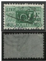 1946 Pacchi Postali 200 Lire Fil.1 Ruota DB - Dent. 13 1/4  (vedi Scan) - Colis-postaux