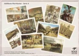 Jubiläums Post Karten - Serie 4 , Die Post überwindet Grenzen - Post & Briefboten