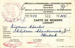 Belgique-amicale Des Prisonniers Et Internés Politiques D'espagne 1940 1944-135mmx90mm - 1939-45