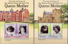 Mother Queen Elisabeth 1985 Nevis Block 5+Vincent Grenadinen Bl.12 ** 6€ Mädchen/85.Geburtstag Bloque M/s Sheets Caribic - St.Vincent & Grenadines