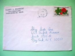 USA 1983 Cover To New York - Flowers Roses Peace Garden - Etats-Unis