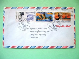 USA 1985 Cover To Denmark - Dorothea Dix - Omnibus - Hawaii Statehood - Statue Of Liberty - Bird Label National Wildlife - Etats-Unis