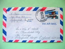 USA 1988 Cover Lakemont To England - Plane - Samuel Langley - United States